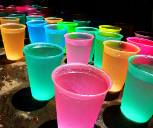 colorful, water, and cup image