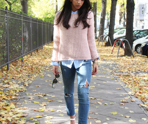 autumn, denim, and fall image