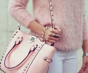 fashion, pink fashion, and pink fashion bag image
