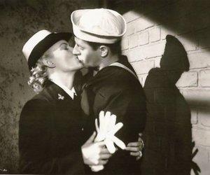 couple, kiss, and sailor girl image