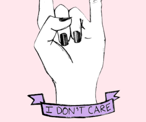 i don't care and rock image