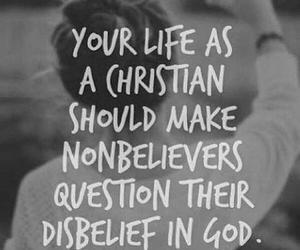 christian, god, and life image