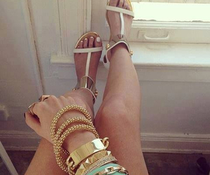 accessories, beach, and gold image