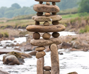 stones, balance, and land art image