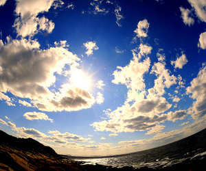 beach, clouds, and photography image