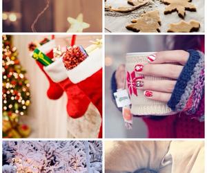 background, santa, and christmas image