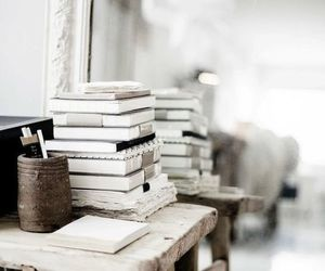 books and white image