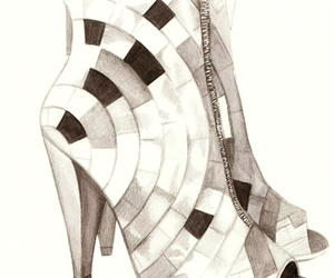 illustration, pencil, and shoes image