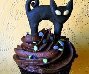 cupcake, cat, and chocolate image