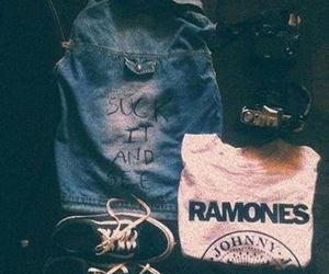 ramones, style, and vintage image