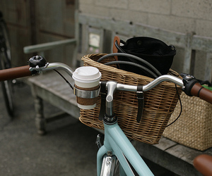 bike, coffee, and bicycle image