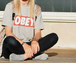 obey, swag, and girl image