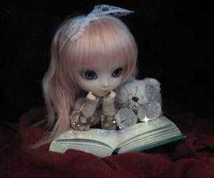 book, cozy, and doll image