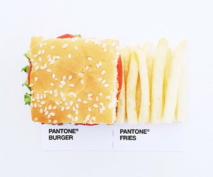 burger, pantone, and fries image