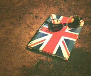 notebook, england, and glasses image