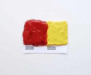 ketchup, pantone, and mustard image