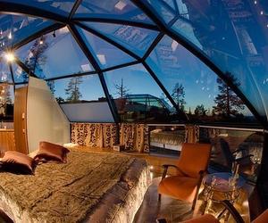 bedroom, room, and sky image