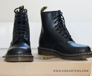 dr martens, black, and boots image