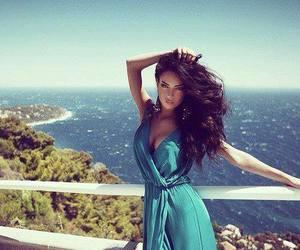 sea, summer, and black hair image
