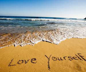 beach, love yourself, and yourself image