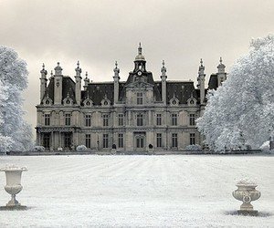 castle, winter, and snow image