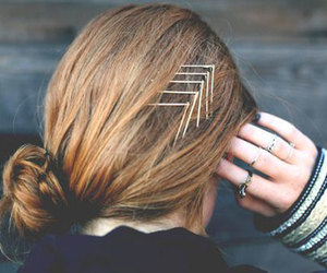 hair, bobby pins, and hairstyle image