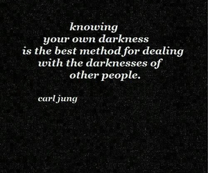 quote, Darkness, and carl jung image