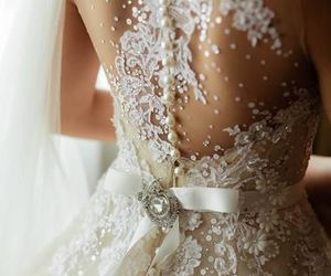 dress, girly, and wedding image