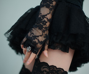 black, gothic, and rings image