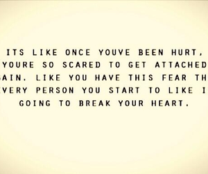 break, scared, and love image