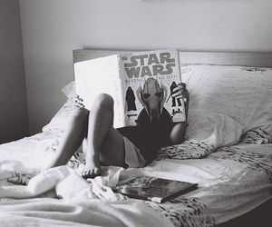 girl, star wars, and bed image