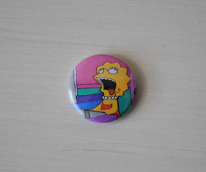 badge, lisa simpson, and style image