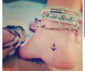 anchor, fashion, and foot image