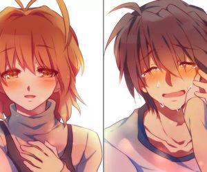 anime, couple, and crying image