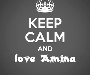 amina and keep calm image