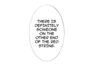 manga, text, and red string of fate image