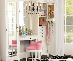 pink, mirror, and room image