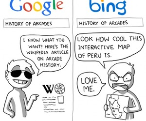 google, bing, and funny image