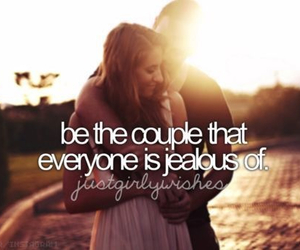 love, couple, and jealous image