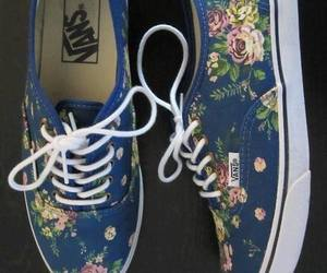 vans, shoes, and flowers image