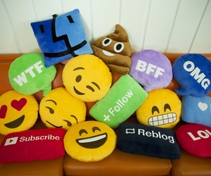 emoji, pillow, and lol image