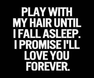 love, hair, and quote image