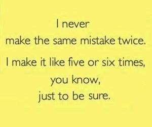mistakes, funny, and quotes image