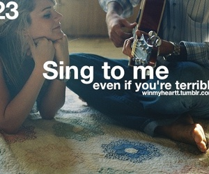 love, sing, and quote image
