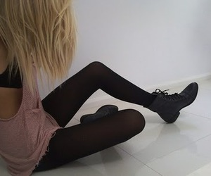 girl, blonde, and skinny image