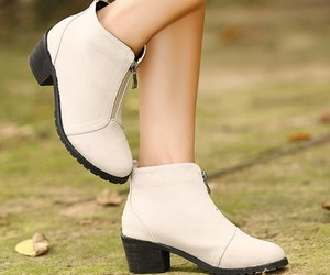 ankle boots, color, and white image