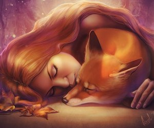 animals, foxes, and autumn image
