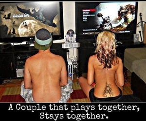 couple, gaming, and gameing couple image