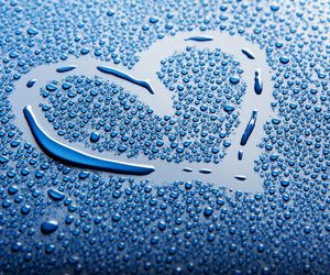 heart, water, and blue image