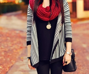 aztec, red, and scarf image